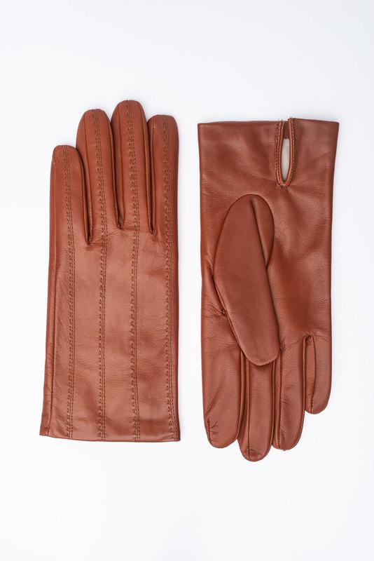 Pánske rukavice Koňakovej farby