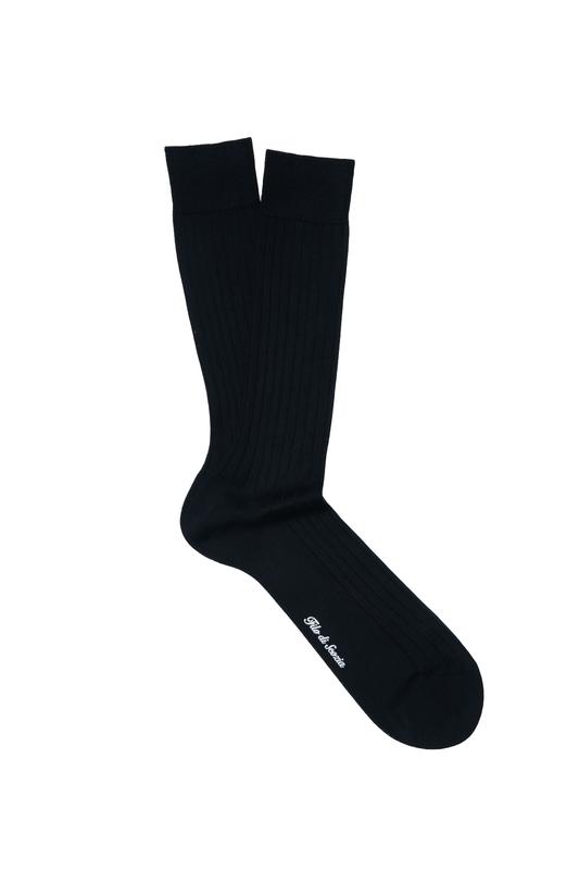 Čierne ponožky Zo 100% bavlny