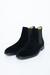 Semišové chelsea boots čiernej farby