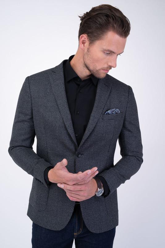 Sivé jersey jacket So vzorom kohútie stopy