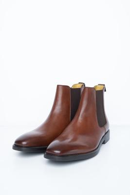 Koňakovej chelsea boots S gumovými perkami