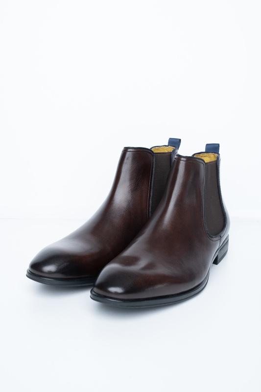 Tmavo hnedé chelsea boots S gumovými perkami
