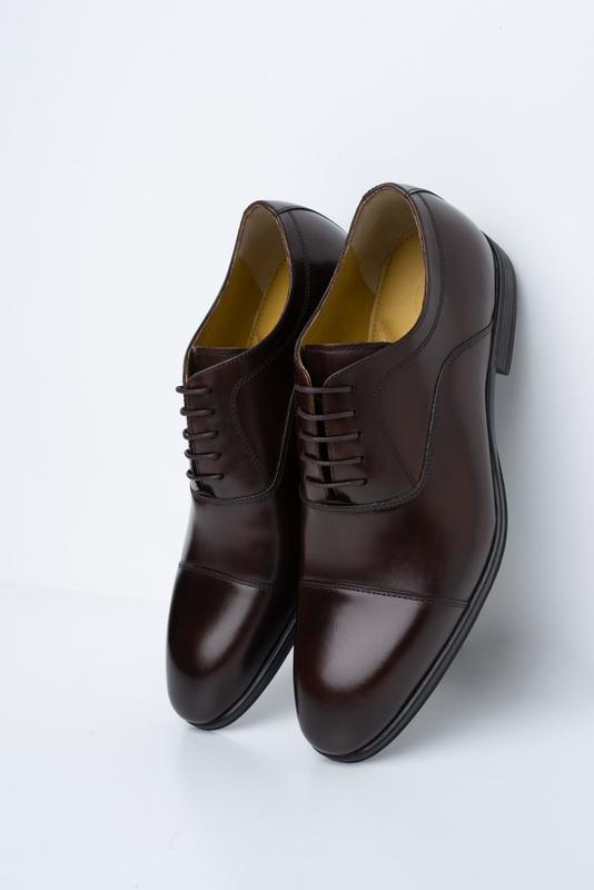 Tmavo hnedé poltopánky Vhodné k obleku