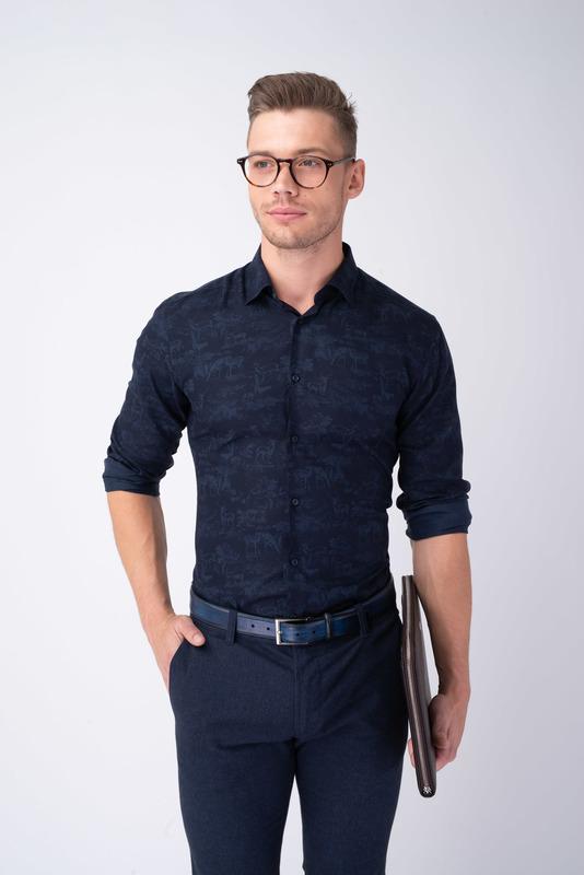 Neformálna košeľa S nenápadným vzorom
