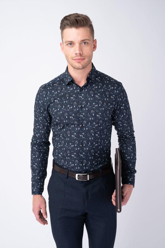 Formálna košeľa S kvetinovým vzorom