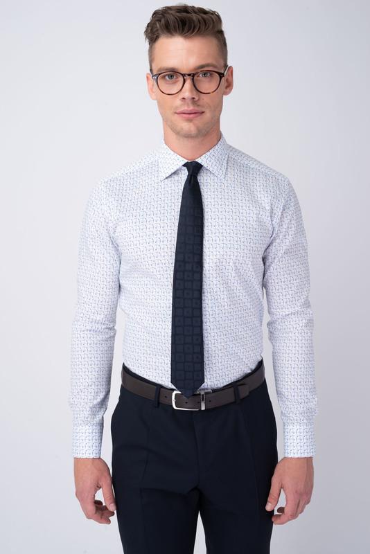 Formálna košeľa S geometrickým vzorom