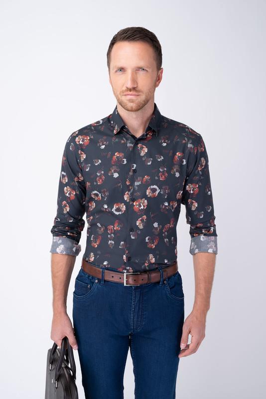 Neformálna košeľa S kvetinovým vzorom