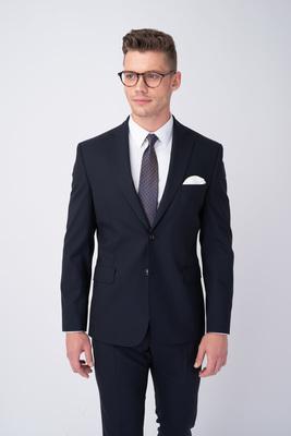 Tmavo modré oblekové sako V extra slim strihu