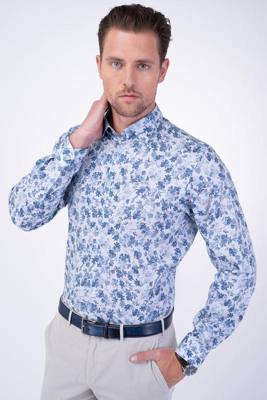 Neformálna košeľa S kvetinovou potlačou