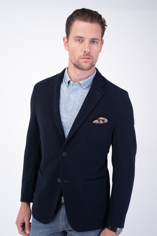 Jersey jacket Tmavo modrej farby