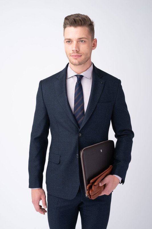 Oblekové sako Tmavo modrej farby
