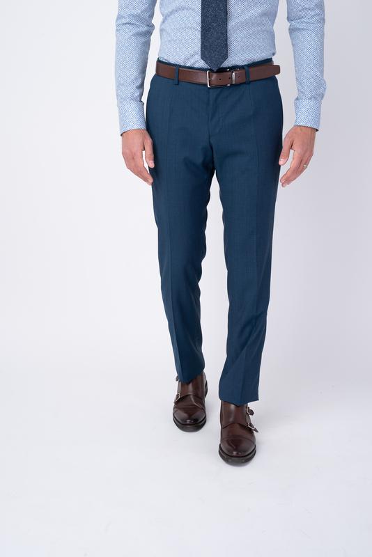 Modré oblekové nohavice Zo 100% vlny